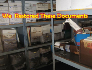 wet and damaged documents dried and restored