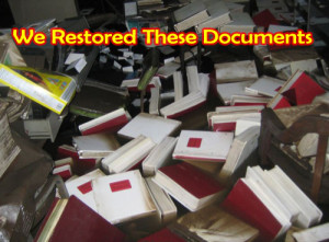 wet document drying services in Massachusetts